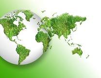 La terre environnementale verte Images stock