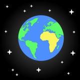 La terre et étoile Illustration plate de l'espace de conception Photo libre de droits
