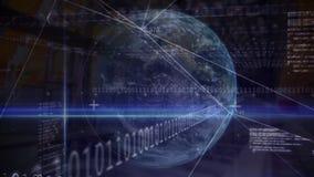 La terre et données numériques illustration de vecteur