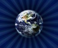 La terre et espace extra-atmosphérique Photo stock