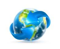 La terre et flèches Photo libre de droits
