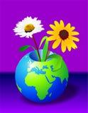 La terre et fleurs Photos stock