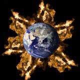 La terre et incendie Photo libre de droits