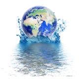 La terre et l'eau illustration stock