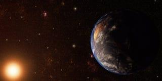 La terre et l'espace illustration libre de droits