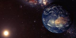 La terre et l'espace illustration de vecteur