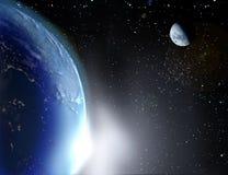La terre et la lune illustration stock