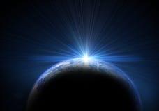 La terre et le soleil illustration stock