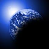 La terre et le soleil illustration libre de droits