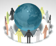 La terre et les gens 3D Photos libres de droits
