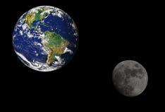 La terre et lune Photo stock