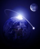 La terre et lune Image libre de droits