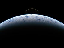 La terre et lune vues de l'espace Photo libre de droits