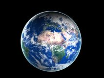 La terre et nuages Photos libres de droits