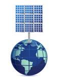 La terre et panneaux solaires illustration de vecteur
