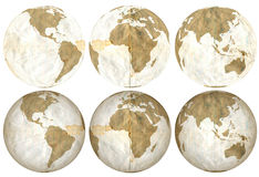 La terre faite de feuilles mobiles dégradées Images libres de droits