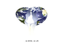 La terre fragile photo stock