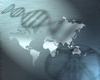 La terre génétique illustration stock