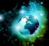 La terre galactique du fond 3D de l'espace illustration libre de droits