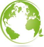 La terre, globe, globe du monde, logo illustration de vecteur