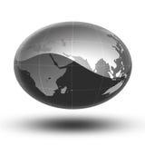 La terre grise Afrique vers l'Asie Photographie stock