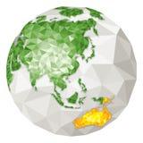 La terre - l'Asie et l'Asia-pacific Area Image libre de droits