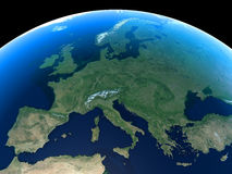 La terre - l'Europe Image stock