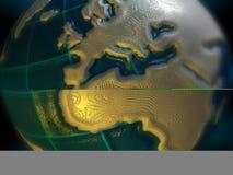 La terre - l'Europe et l'Afrique Images stock
