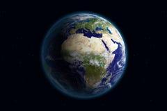 La terre - l'Europe et nuages Images libres de droits