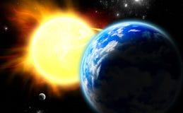 La terre, lune et Sun. Photos libres de droits