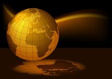 La terre magmatique Images libres de droits