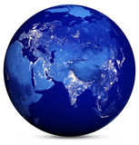 La terre Map Image stock