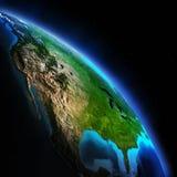 La terre Map Photographie stock