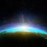 La terre Map Photos libres de droits