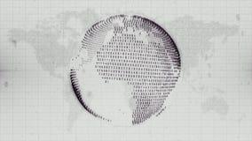 La terre numérique - le globe a formé des données sur le fond de carte de la terre Photographie stock