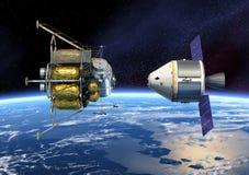La terre orbitale de véhicule d'exploration d'équipage illustration de vecteur