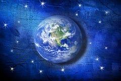 La terre peinte Image libre de droits