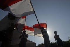LA TERRE PERDANTE DE L'INDONÉSIE SUR L'ÉDUCATION Images libres de droits