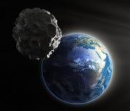 La terre proche en forme d'étoile illustration stock