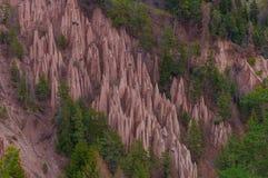 La terre Pyramides près de Bolzano Image stock