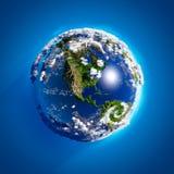 La terre réelle avec l'atmosphère Image stock