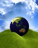 La terre radiante Image libre de droits