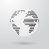 La terre rayée simple Photo stock