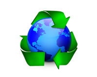 La terre recyclable Images stock