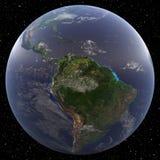 La terre regardant Amazone 3D rendent Images stock