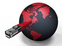 La terre reliée de planète - Internet Image libre de droits