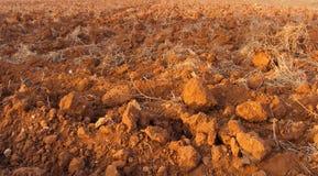 La terre rouge Photos libres de droits