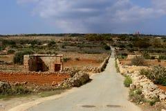 La terre rouge sur Malte Photos stock