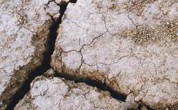 La terre sèche avec les fissures profondes Image stock