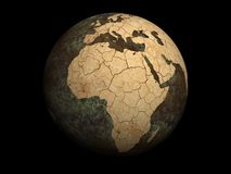 La terre sèche de planète illustration stock